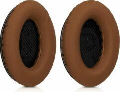 Kwmobile 2x oorkussens voor Bose Quietcomfort 15 / QC15 koptelefoons - imitatieleer - voor over-ear-koptelefoon - donkerbruin