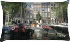 Zwarte Velits outdoor Buitenkussen Amsterdam grachten