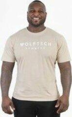 Wolftech Gymwear Sportshirt Heren - Beige - M - Regular Fit - Sportkleding Heren