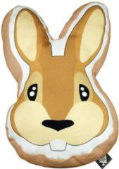 The Zoo Sierkussen Rabbit Junior 40 X 40 Cm Textiel Oranje/bruin