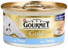 Purina Gourmet Gold Mousse - Tonijn en Oceaan Vis - Kattenvoer - 24 x 85 g