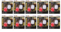 10 sets DUNLOP Cycling Siliconen LED Fiets Lampjes - 10 Sets van 1 wit en 1 rood Led lampje - Verlichtingsset - Achterlicht - Voorlicht - Koplamp - Rood & Wit / fietslicht / fietslamp