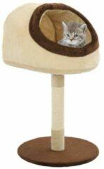 VidaXL Kattenkrabpaal met sisal krabpaal 72 cm beige en bruin