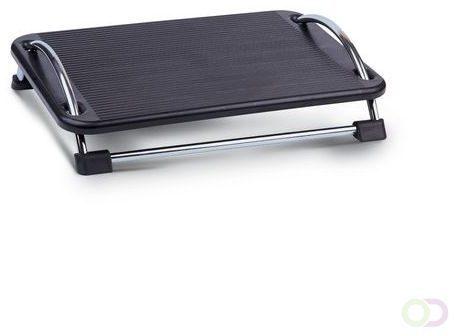 Afbeelding van Zwarte DESQ® Voetensteun 60075 | Vrij Kantelbaar 0-30° | Antislipoppervlakte | Kunststof en metaal