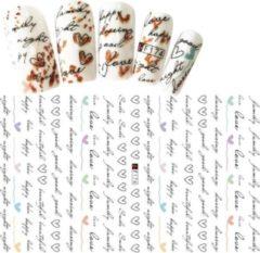 GUAPÀ - Nail Art 3D Script Stickers - Nagel Decoratie & Versiering Folie - 92 pieces