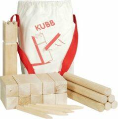 Gollnest & Kiesel GmbH Schaakspel: KUBB vikingschaakspel H25cm en 4x4x12cm, 21-deli