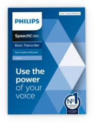 Blauwe Philips SpeechExec Basic Transcribe-software 11 LFH4622, abonnement voor 2 jaar