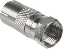 Goobay Adapter: F-Stecker > Koax Buchse (IEC 9,5 mm)<br>Qualität Ku