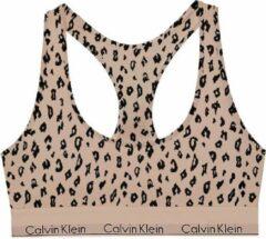 Beige Calvin Klein Unlined bralette met panterprint