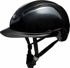 Zwarte Nomic L black glossy, Ked's nieuwste model met hoofomtrek 57-62cm