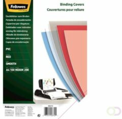 Fellowes 5377201 binding cover A4 Kunststof, PVC Rood, Transparant 100 stuk(s)