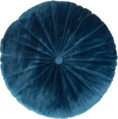 Blauwe KAAT Amsterdam Mandarin Sierkussen Ø 40 cm