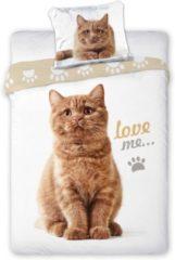 Animal Pictures Dekbedovertrek Love Me - Eenpersoons - 140 X 200 Cm - Wit
