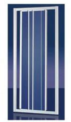 Plieger Economy schuifdeur 3 delig acryl 90 x 185 cm (afstelbaar van 88 tot 94 cm breed) wit profiel 4283008