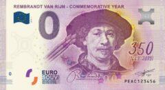 Paarse 0 Euro Biljet 2019 - Rembrandt