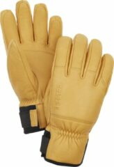 Bruine Hestra Army leather Patrol vinger handschoenen sr