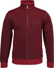 Casa Moda vest katoenmelange - donker rood (met rits) - Maat XL
