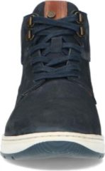 No Stress - Heren - Donkerblauwe hoge sneakers met bruin detail - Maat 44