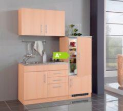 HELD Möbel Single-Küche Dallas 160 cm - Melamin Buche Nachbildung