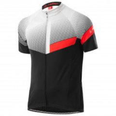 Löffler - Bike Jersey Full-Zip Stream Mid - Fietsshirt maat 48, zwart/grijs