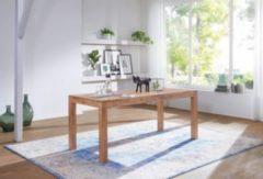 Wohnling Esstisch MUMBAI Massivholz Akazie 140 cm Esszimmer-Tisch Holztisch Design Küchentisch Landhaus-Stil dunkel-braun