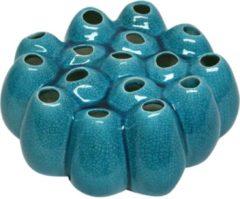 Villa Pottery Groen Gele Vaas PomPom - Groen Geel Vaas 20x20x8