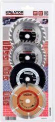 Kreator KRT090101 Set van 4 cirkelzaagbladen voor mini-cirkelzaag - Ø89 mm