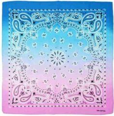 Zac's Alter Ego Bandana Two tone alternatie paisley Mondkapje Roze/Blauw