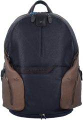 Coleos Rucksack Leder 36 cm Laptopfach Piquadro camo blue