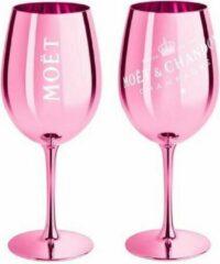 Moet & Chandon roze champagneglazen - 2 stuks