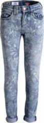 Blauwe Blue Barn Jeans - Semi bleach bloemenprint - skinny fit meisjes denim