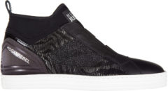 Nero Hogan Rebel Scarpe sneakers alte donna r182 mid cut elastici