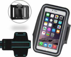 ICall Sport / Hardloop Armband Universeel Spatwaterdicht – Zwart Sportband – voor Apple iPhone 7 - Hardloop 4.7 inch Sport Armband Met Sleutelhouder - Waterproof / Waterdichte Case / Hoesje