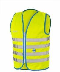 Gele 10 stuks WOWOW Fun Jacket Medium - Fluohesje kind met rits - Veiligheidshesje EN 1150 certificaat