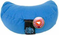 Yogi & Yogini Meditatiekussen blauw 5chakra halve maan - 33x13 - Boekweit - Katoen - 1300 - Blauw