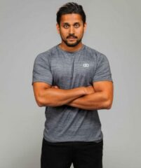 Marrald Performance Sportshirt | Grijs - L heren fitness crossfit