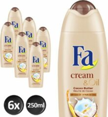 Fa Shower Cream Cacaobutter Coco Oil Voordeelverpakking 6x250ml