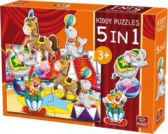 King International King Legpuzzel Kiddy Puzzles 5-in-1 Circus 29 Stukjes