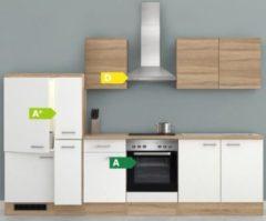 Flex-Well Küchenzeile G-300-2504 + Haube 6091 Samoa 300 cm