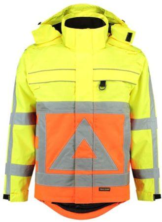 Afbeelding van Tricorp Parka verkeersregelaar - Workwear - 403001 - Fluor Oranje-Geel - maat M