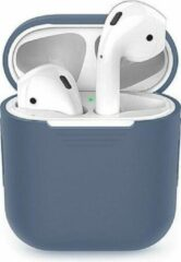 Donkerblauwe Airpods Hoesje - Airpods Case - Hoesje voor Airpods - Airpods Hoesje Siliconen Case - Airpods 1 Hoesje - Airpods 2 Hoesje - Airpods Case Silicone - Airpods Pro Case - Airpods Hoes - Airpods Case Hoesje - Airpods Hoesje Gmedia®