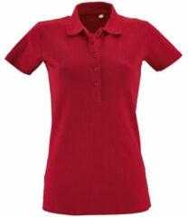 Rode Polo Shirt Korte Mouw Sols PHOENIX WOMEN SPORT