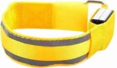 Able & Borret Hardloop LED Band | Reflecterende sport band | Veiligheidsbandje | Geel