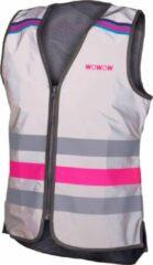 Wowow Veiligheidshesje Lucy Fr Polyester/mesh Grijs/roze Maat Xxl