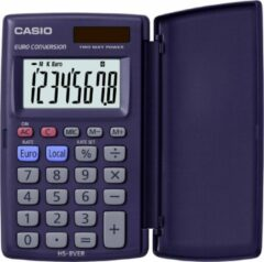Casio HS-8VER Pocket Basisrekenmachine Blauw calculator