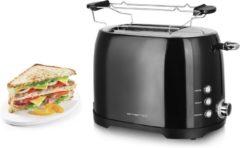 Zwarte Emerio Emerio Toaster 2 Scheiben, schwarz, Thermostat, Aufsatz