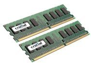 Crucial DDR2 - 2 GB: 2 x 1 GB - DIMM 240-PIN CT2KIT12864AA667