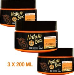 Nature Box Pure Nature Vegan Body Butter - 3 x 200 ml - Voordeelverpakking
