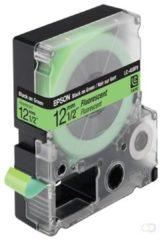 Epson fluorescerende tape breedte 12 mm, zwart/fluo groen