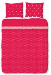 Damai Romanette dekbedovertrek polkalace rood-240 x 200/220 cm